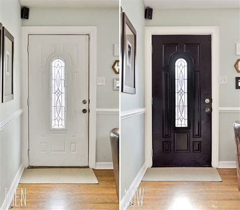Interior Doors Painted A Dramatic Glossy Black So Maybe Paint Interior Doors