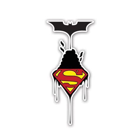 Stiker Vinil 7 X 8 Cm Desain Custom Stiker Custom batman vs superman vinyl sticker vinyl revolution