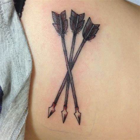 arrow cross tattoo arrow tattoos and designs page 58