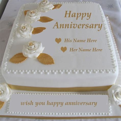 Wedding Anniversary Wishes With Cake by Write Name On Wedding Anniversary Cake Images