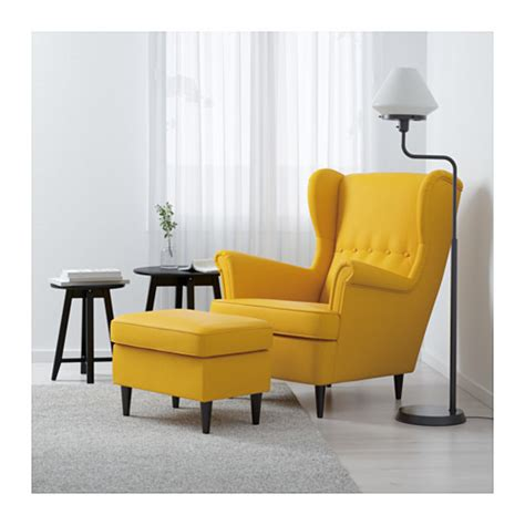 Yellow Wingback Chair Design Ideas Strandmon Wing Chair Skiftebo Yellow Ikea