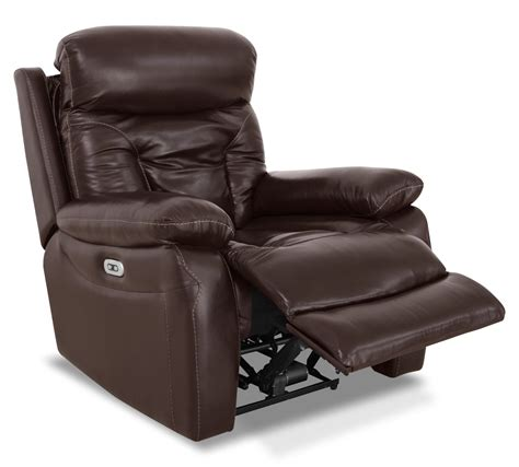 reclining chairs genuine leather power reclining chair brown the