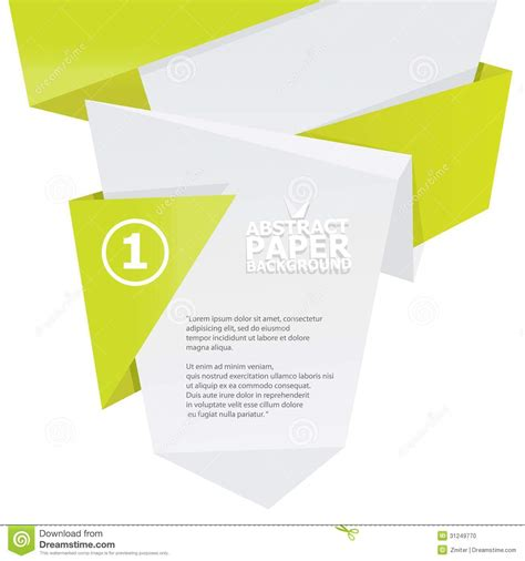 white origami paper abstract white and green paper origami background stock