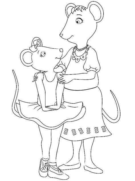 coloring pages of angelina ballerina get this free angelina ballerina coloring pages 623673