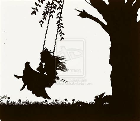 girl on swing silhouette pin by milaja kimbrell on stuff to buy pinterest