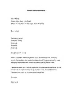resignation templates resignation letter 15 free word pdf documents