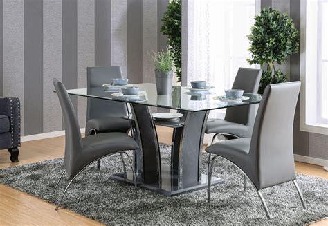 glenview  gray rectangular dining room set cmgy