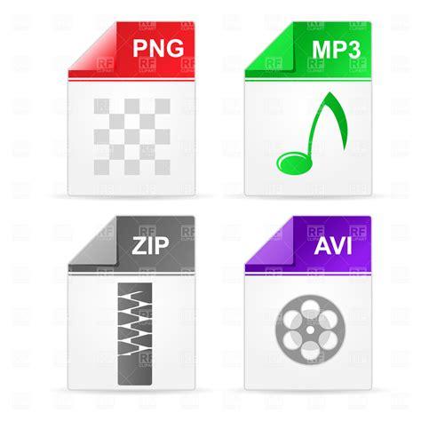 download link full mp3 album zip file filetype icons zip png mp3 avi royalty free vector