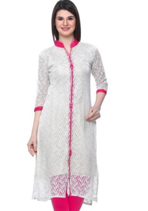 kurta pattern with net buy online wcse self design women s kurti white 523790