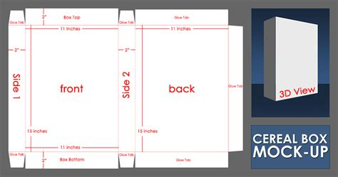 design your own cereal box template layout