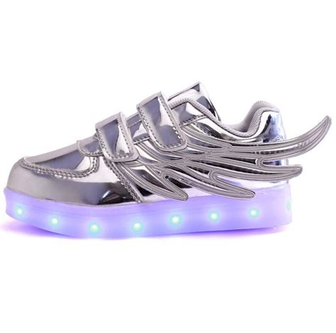 Wings New Led Shoes Silver Kecil מוצר 2017 new usb charging glowing sneakers running