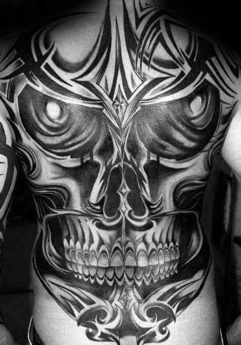 fantastis  desain tato tribal tengkorak gambar tato keren