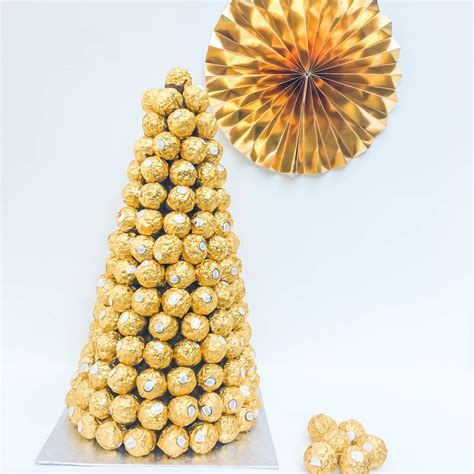 Ferrero Rocher Tower Cho Late Centre Piece By Sweet Trees