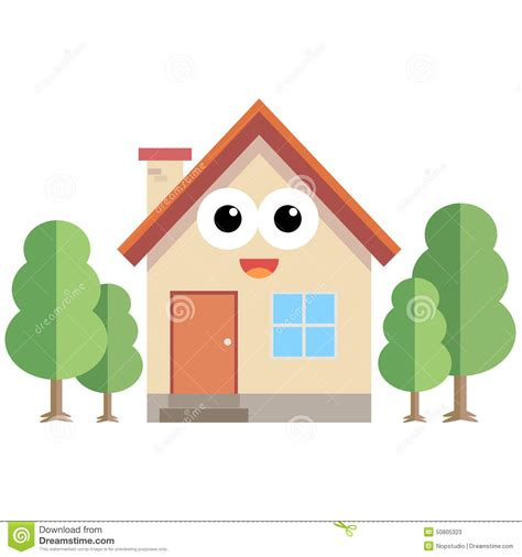 happy home stock vector image 50805323