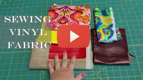 sewing vinyl upholstery sewing minis ep 5 tips for sewing vinyl fabric sewing