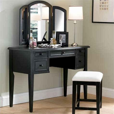 black bedroom vanities powell furniture terra cotta vanity table with mirror and