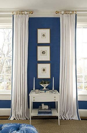 white curtains blue trim bedroom by kelley proxmire with white curtains with blue