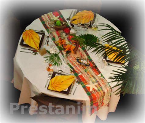 De La Table Décoration by Photo Table D C Acoration De Antillaise Et Aussi Neutre
