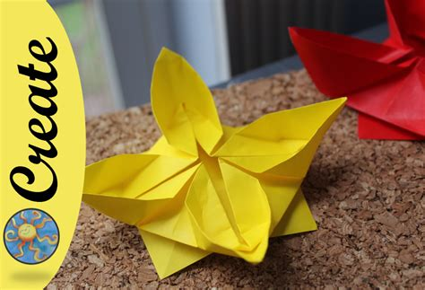 Origami Water Flower - how to make an origami flower water
