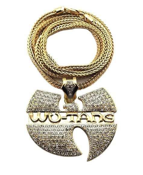 new iced out wu tang hip hop pendant 4mm 36 quot franco