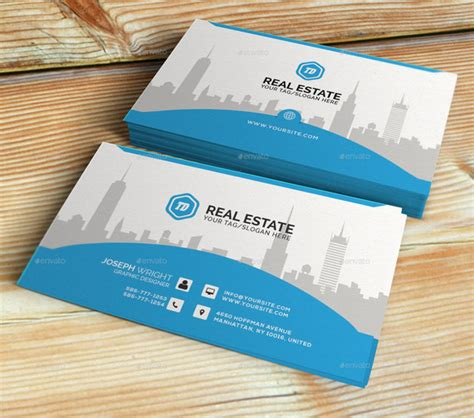 template business card real estate 20 real estate business card templates