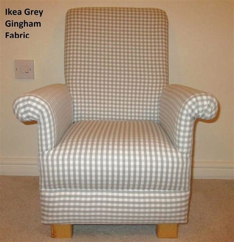 boys bedroom chair ikea grey gingham fabric child s chair nursery check boys