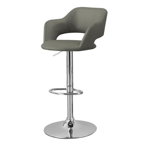 Grey Bar Stools Canada by Contemporary Faux Leather Bar Stool Light Grey Bar