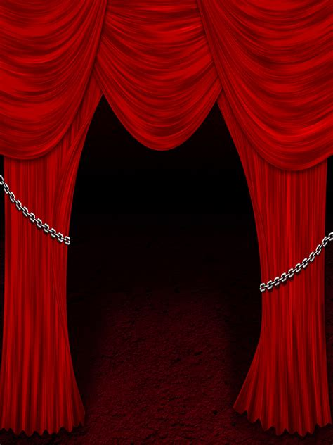 red theatre curtain theater curtains chainimage
