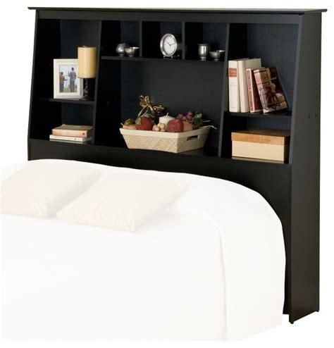 black full queen wood bookcase headboard 2 piece bedroom prepac slant back tall full queen bookcase headboard