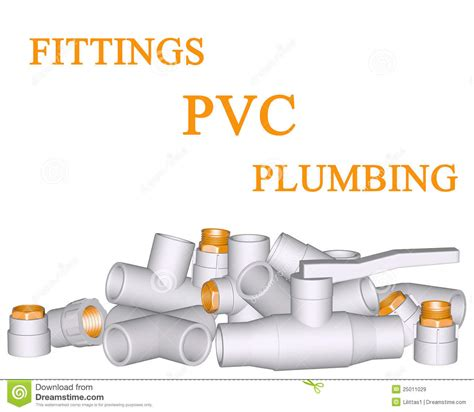 fitting pvc connection and pipes stock illustration