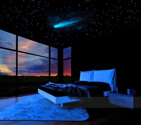star ceiling room home sweet home pinterest star ceiling ceilings and stars comet and stars glow in the dark ceiling mural