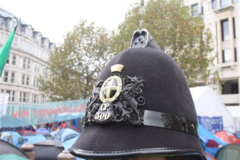 city  london police helmet st pauls cathederal londo