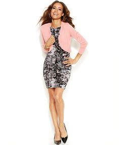 Sweater Thalia Pink thalia sodi mixed print con scuba dress thalia sodi