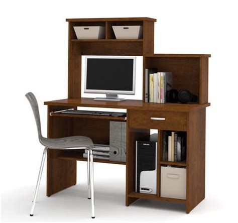 bestar active computer desk with active by bestar computer workstation in tuscany brown walmart ca