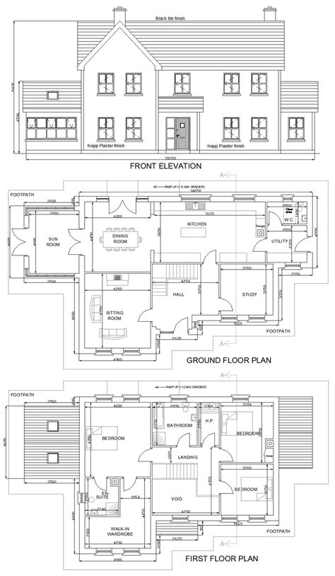 2 story house floor plans and elevations 2 storey residential house plan house design plans