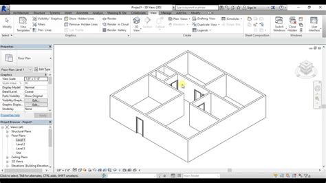 revit easy tutorial how to make a simple home in revit tutorial 1 youtube