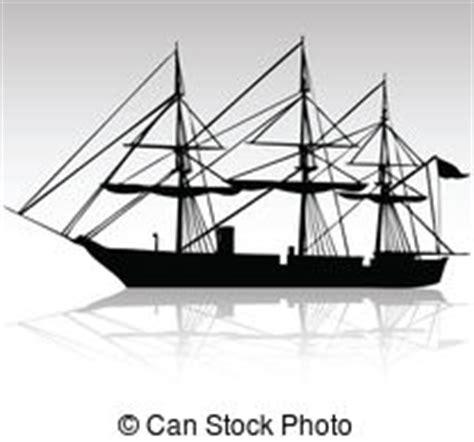 dessin bateau noir bateau noir noir bateau blanc vieux isol 233 clip art