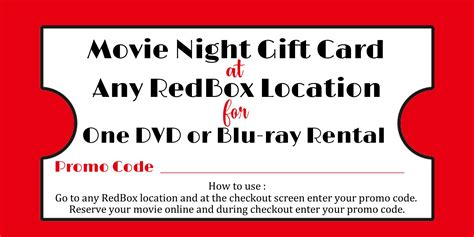 Redbox Movie Rental Gift Cards - redbox printable gift tag redbox printable tag redbox teacher gift sweetdesignsbyregan