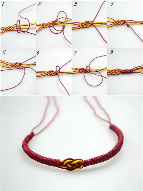 How To Make Handmade Bracelets With Threads - 17 best ideas about knot bracelets on armband