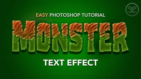 tutorial text effect photoshop indonesia easy photoshop tutorial monster text effect youtube