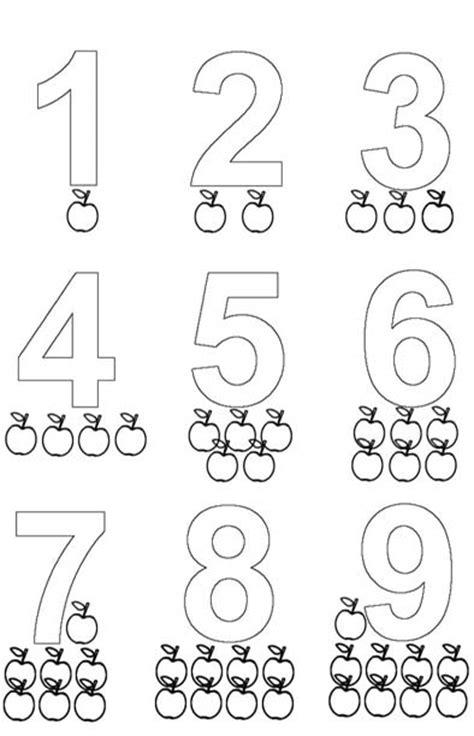 imagenes de matematicas para preescolar colorea los numeros