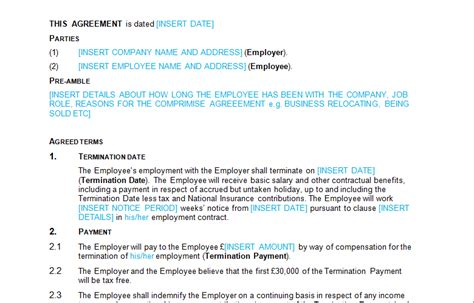 Compromise Agreement Letter Template Disciplinary Grievance Page 3 Of 4 Bizorb