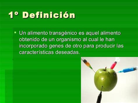 definicion de alimentos transgenicos alimentos transg 233 nicos