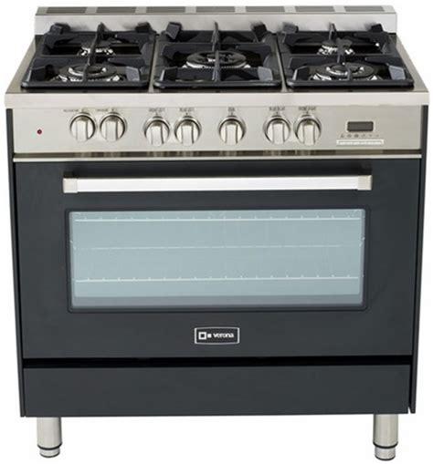matte black appliances vefsge365ne verona 36 quot dual fuel single oven range matte