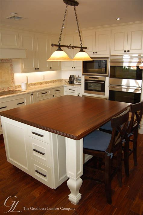 kitchen island countertop custom mahogany wood countertop in miami florida