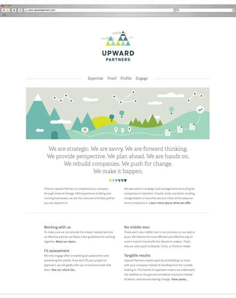 homepage design elements upward partners branding bureau of betterment