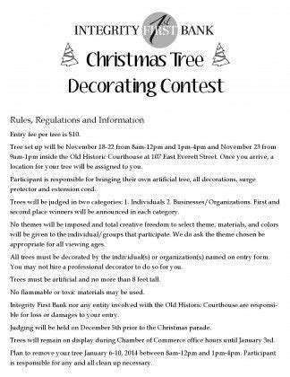 decorating contest judging criteria tree decorating entry form page 001 christmas pinterest