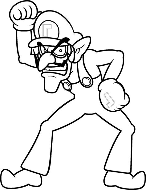 blank coloring pages mario waluigi coloring by blistinaorgin on deviantart