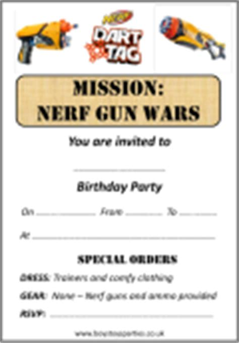 Boys Toys Parties Nerf Gun Wars And Radio Controlled Rc Car Parties In Bristol Wiltshire Nerf Gun Birthday Invitation Template