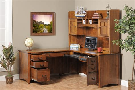 solid wood computer desk with hutch office desk with hutch home design by